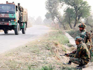 In pic: Indian Army soldiers conduct a search operation in a forest area outside the Pathankot air force base.