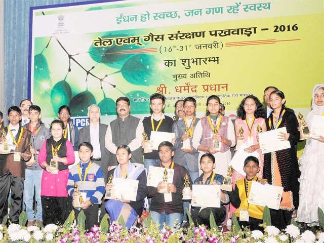 oil and gas conservation fortnight A pledge taken by nearly 300 school students for actively conserving petroleum products marked the beginning of observance of oil and gas conservation fortnight in ranchi today.