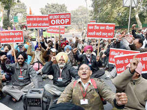 Ex-servicemen seeking changes in government's One Rank One Pension (OROP) scheme today shifted their protest back to Jantar Mantar.