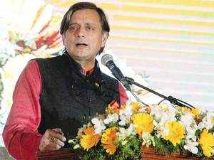 """""""The policy is good but why are we giving tax payers' money for start-ups when very very easily private sector can come in for investment,"""" Tharoor said."""