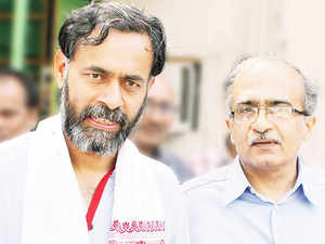 """Swaraj Abhiyan, a group formed by the duo and their supporters after their expulsion from the AAP, said they are """"seriously thinking"""" about contesting the assembly elections in Punjab."""