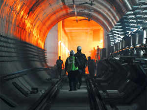 """According to Delhi Metro Rail Corporation spokesman, Anuj Dayal, the decision to """"drag"""" the tunnel boring machine (TBM) as against powering it through - as is the norm - was done because of severe paucity of space."""