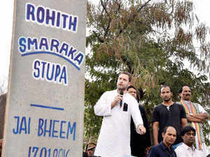 As Congress mounted the demand for the sacking of the HRD and Labour Ministers, Rahul Gandhi led the multi-party charge attacking them and the Vice Chancellor Appa Rao.