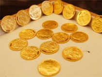 Standard gold (99.5 purity) fell by Rs 110 to close at Rs 25,990 per 10 grams from Monday's level of Rs 26,100.