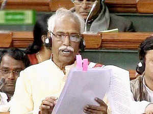 """Mukhtar Abbas Naqvi came to the defence of his ministerial colleague Bandaru Dattatreya(seen in the pic) saying he was """"innocent"""" and that the central government """"is with him""""."""