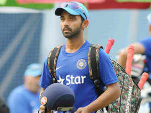Star batsman Ajinkya Rahane today split the webbing of his right hand while fielding during the fourth ODI against Australia.