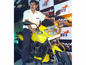 (Representative picture) TVS Motors launched its much anticipated Apache RTR 200 motorbike, with a starting price of Rs 88,990 ex-showroom Delhi.
