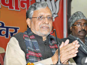 """Launching a scathing attack against the Nitish Kumar government, Sushil Modi alleged that the state government was working under the """"pressure"""" of Lalu Prasad."""