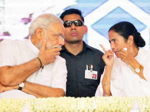 """PM Narendra Modi said he has received """"touching"""" New Year greetings from West Bengal CM Mamata Banerjee for which he thanked her and wished her a great year 2016."""