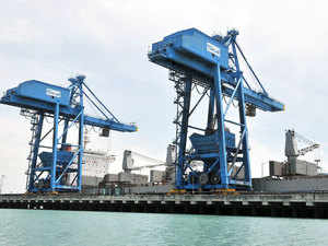 India's top 12 major ports saw an increase in cargo traffic by 3.18 per cent to 447.05 million tonnes (MT) during the first nine months of the current fiscal.