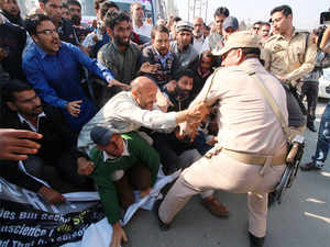 J&K BJP unit demanded action against state Independent MLA Engineer Rashid for allegedly threatening to hand over a BJP worker to LeT in Pulwama district.