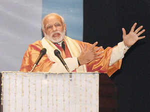 Two students, who shouted slogans during PM Modi's convocation address at Babasaheb Bhimrao Amebdakar University, were arrested and released later on personal bonds.