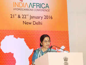 India can partner with African nations to set up entire supply chain in the hydrocarbon sector beginning from exploration to strategic storage, External Affairs Minister Sushma Swaraj said.