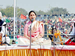 Mulayam Singh Yadav's younger daughter-in-law, Aparna Yadav(seen in the picture), was a guest at Prime Minister Narendra Modi's programme at Babasaheb Bhimrao Ambedkar University.