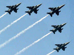 In pic: IAF fighter planes fly past during a rehearsal for the Republic Day Parade at Rajpath in New Delhi.