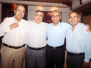 G P Hinduja today asked corporate leaders to diversify their businesses across sectors and countries to sail through such turbulences.