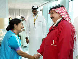 """Swaraj, who is here for a two-day visit to attend the first ministerial meeting of the India-Arab League Cooperation Forum, held """"wide-ranging"""" discussions."""