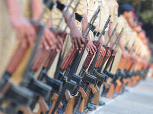 (In pic) City police during their parade practice session ahead of Republic day at Shivaji Nagar Police ground in Pune.