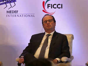 French President Francois Hollande said the objective of his visit was to consolidate strategic partnership between the two nations.