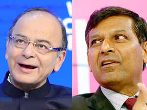 FM Jaitley pressed India's case while focusing on the challenges even as Rajan spoke about the economy's actual state and how it should avoid getting complacent.