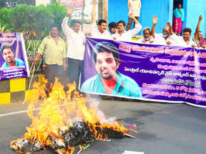 Protest over the suicide of Vemula