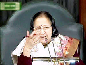 "Lok Sabha Speaker Sumitra Mahajan today came in for stinging criticism for her remarks on reservation, with BSP chief Mayawati calling it reflective of the discriminatory ""Manuvadi"" mindset of upper castes."