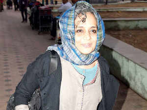 The Nagpur bench of the Bombay High Court today exempted writer-activist Arundhati Roy from personal appearance in the contempt of court proceedings against her.