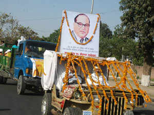 (Representative picture) The rath with pictures of BR Ambedkar will travel to districts of Bundelkhand from February 1 till February 10, to create awareness among people about the work done by Congress for the Dalit community.