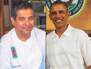 Keeping in line with Michelle's healthy approach, chef Floyd Cardoz's food-menu for Barack Obama