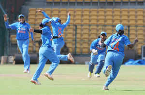 The Indian women's cricket team  chased down a record total and upstage Australia by 5 wickets in the opening T20 International of a 3 match series today.