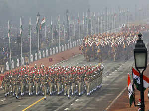 Union ministers and political leaders were among thousand of spectators who cheered at the military contingents, dance troupes performances and tableaux from various states during the Republic Day parade today at Rajpath.