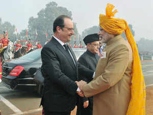 Prime Minister Narendra Modi today bid a warm farewell to French President Francois Hollande who left India after his three-day visit, expressing confidence that their discussions would further deepen the bilateral ties.