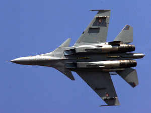"""""""On the analysis of the debris, it was established that there was no dangerous payload,"""" defence spokesperson Lt Col Manish Ojha said today.In pic: IAF's Sukhoi -30."""