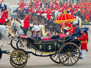 The historic Presidential buggy today made a comeback, after a year's break, with President Pranab Mukherjee arriving in it to attend the Beating the Retreat ceremony.