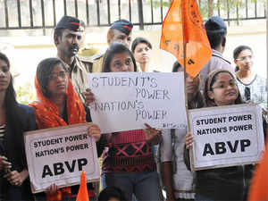 """""""ABVP strongly opposes the politicisation being done by Rahul Gandhi in Central University at a time when peaceful atmosphere is returning in the university."""""""