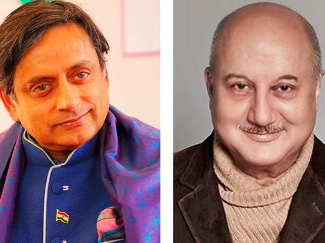 Anupam Kher, Shashi Tharoor were involved in a war of words on Twitter over the actor's comments that he is scared to openly say he is a Hindu.