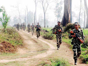 In pic: (Unrelated) Security personnel during an operation against National Democratic Front of Bodoland - Songbijit faction (NDFB-S) militants along the India-Bhutan border, in Chirang district of Assam.