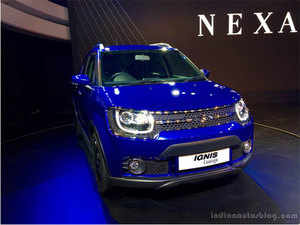 Maruti Suzuki India (MSI) will launch its smart urban compact car Ignis(seen in the picture) and premium sports hatchback Baleno RS around the festival season this year.