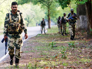 (In pic) More than 1,000 security personnels have been pumped into the jungles of the Naxalite-infested Bastar region for a major offensive against the ultras.