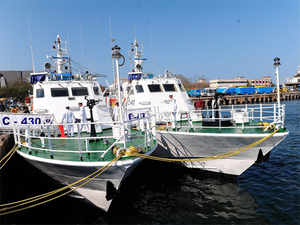 (In pic) Indian Coast Guard Ships Anagh C-430 and C-417 during the Commissioning ceremony of Iat Chennai Port.