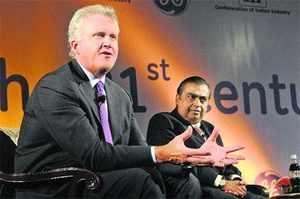 Jeffrey Immelt and Mukesh Ambani
