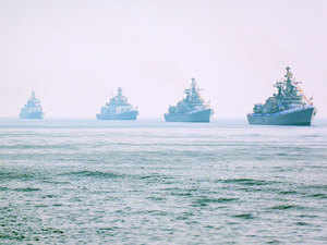 Naval vessels sailed from as far away as Brazil and Australia to participate in the IFR, being conducted for only the second time by India with the first one in 2001.