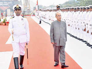 The President onboard 'INS Sumitra' had yesterday sailed through a display of 70 ships off Visakhapatnam at International Fleet Review (IFR).