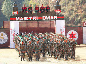 The 14-day Indo-Nepal military exercise 'Surya Kiran' focusing on jungle warfare and counter terrorism today began at Pithoragarh in Uttarakhand.