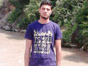 In pic: Sheikh Azhar Al Islam from Jammu and Kashmir's Ganderbal district, the youth who was arrested for suspected ISIS link.