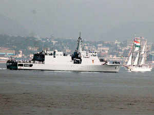 The sailing ships were flagged-off by a senior Naval official on conclusion of the five-day-long International Fleet Review.
