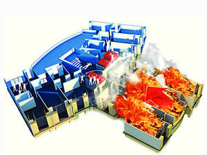 Major fire breaks out at Jabong's largest warehouse - The Economic Times