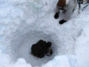 In pic: Rescue operation going on in Siachin glaciers on Monday, 8 February 2016.
