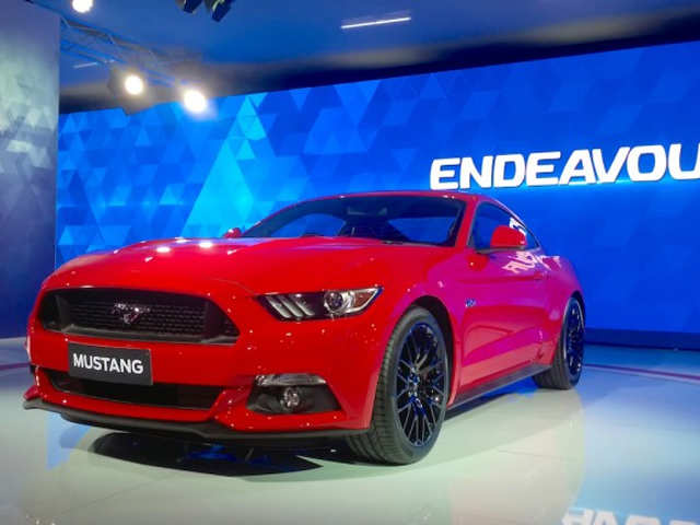 Ford Mustang Showcased At Auto Expo 2016