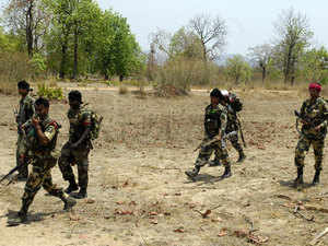 File photo: CRPF men patrol Danterwara district of Chhatisgarh.